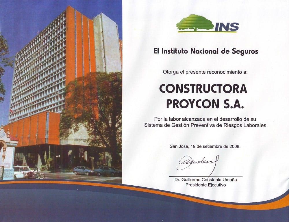 Homologacion Reconocimiento INS 2008